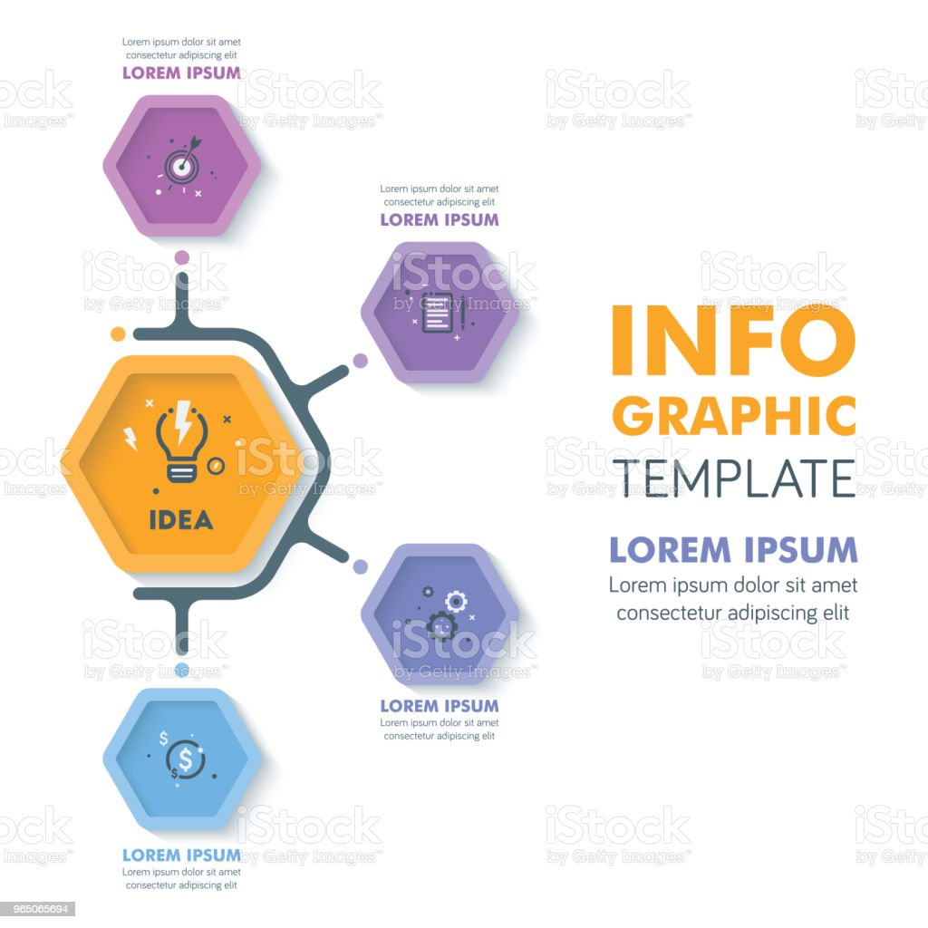 Business Infographic Template.Modern Hexagonal Infographics Timeline Design.Colorful Vector Illustration royalty-free business infographic templatemodern hexagonal infographics timeline designcolorful vector illustration stock vector art & more images of abstract