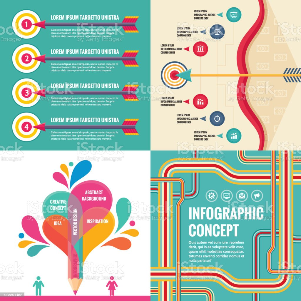 Business Infographic Templates Concept Vector Illustration Abstract ...