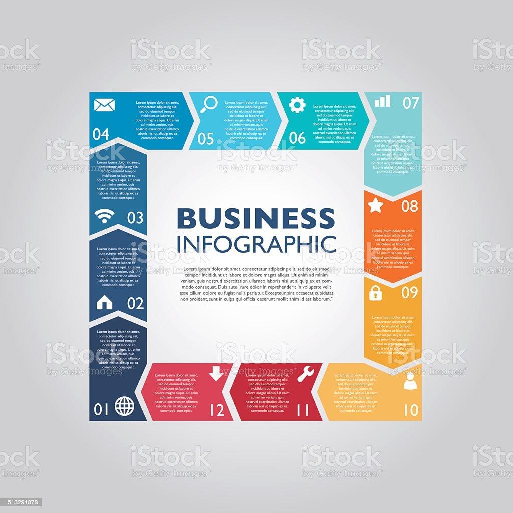 Business infographic向量藝術插圖
