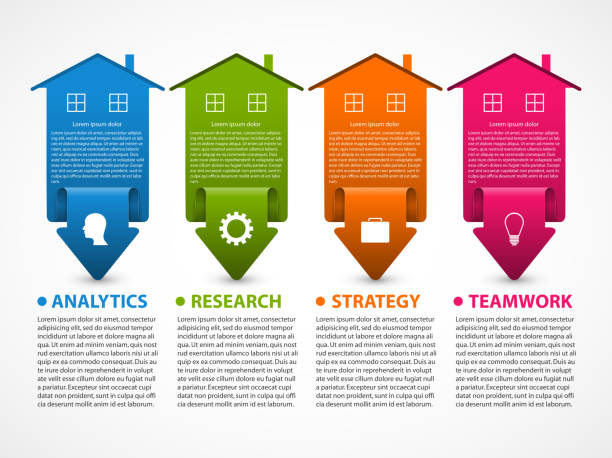 Business infographic visualization for presentations or information banner. vector art illustration