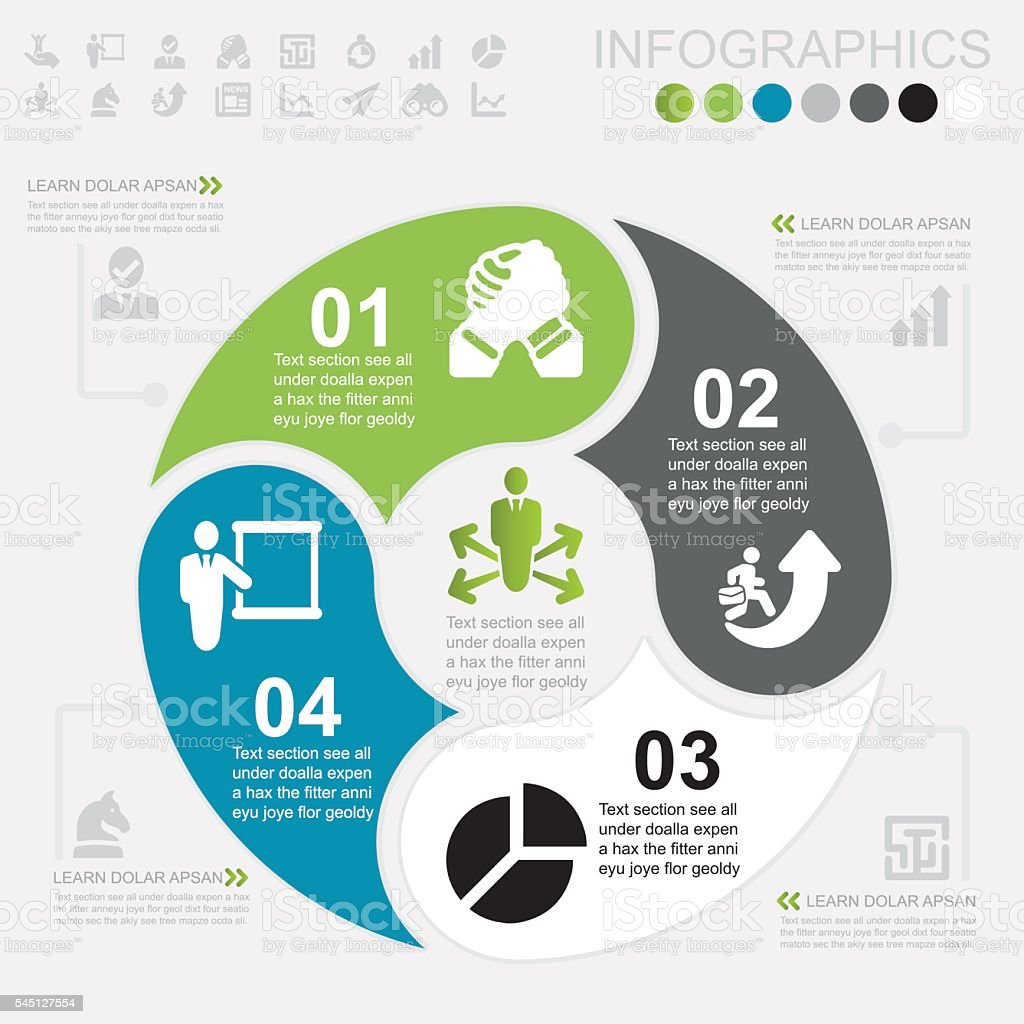 Business Infographics and icons | EPS10 royalty-free stock vector art