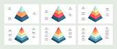 istock Business infographics. Charts with 3, 4, 5, 6, 7, 8 steps, options, levels. Vector template. 1167605240