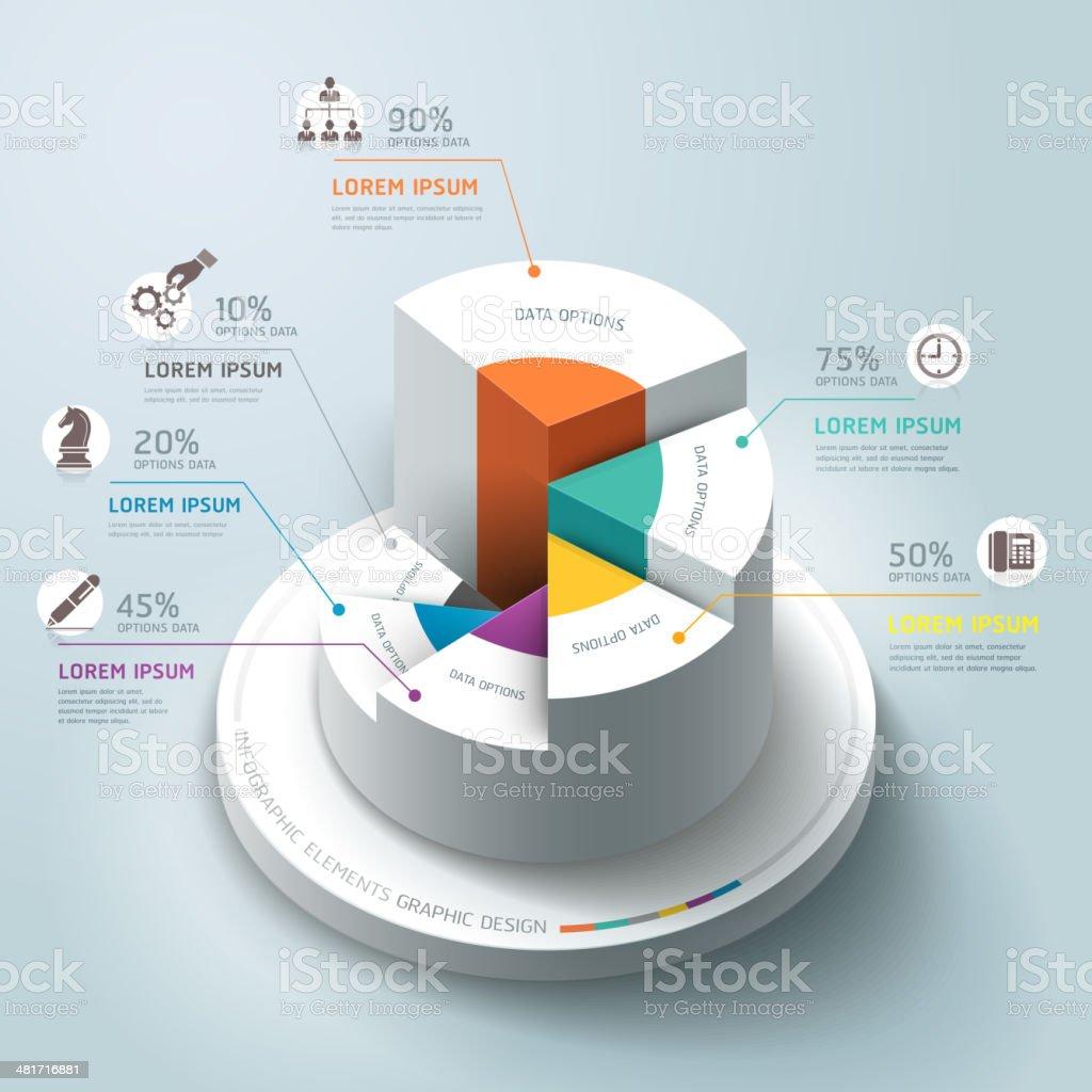 Business-Infografiken circle Diagramm. – Vektorgrafik