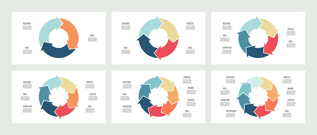 circular infographics stock illustrations