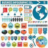 Vector business infographics design elements.