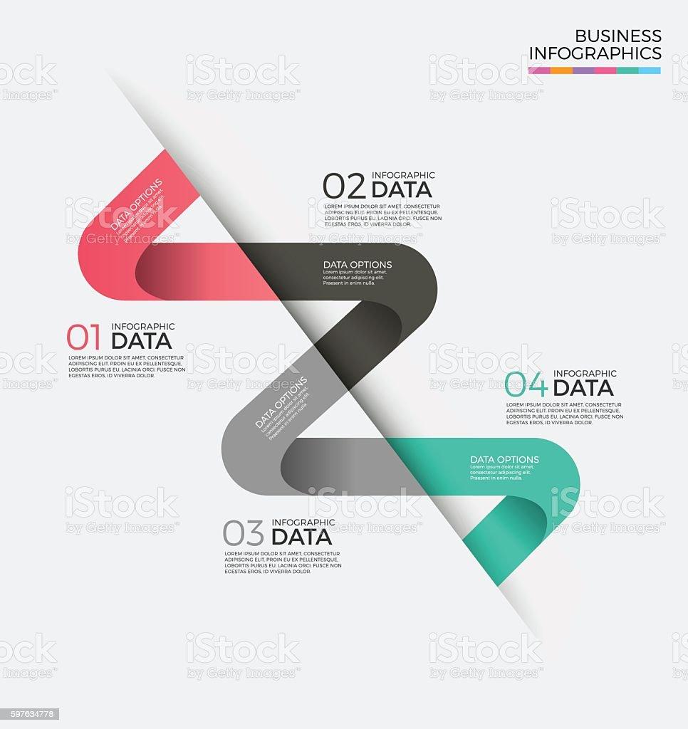 Business Infographics design template. vector art illustration
