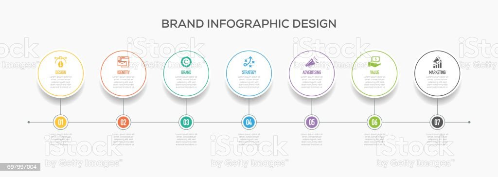 Business Infographics Design with Icons.  Brand