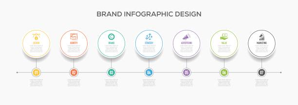 Business Infographics Design with Icons.  Brand vector art illustration