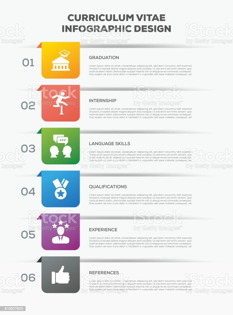 business infographics design with icons curriculum vitae royalty free business infographics design with icons