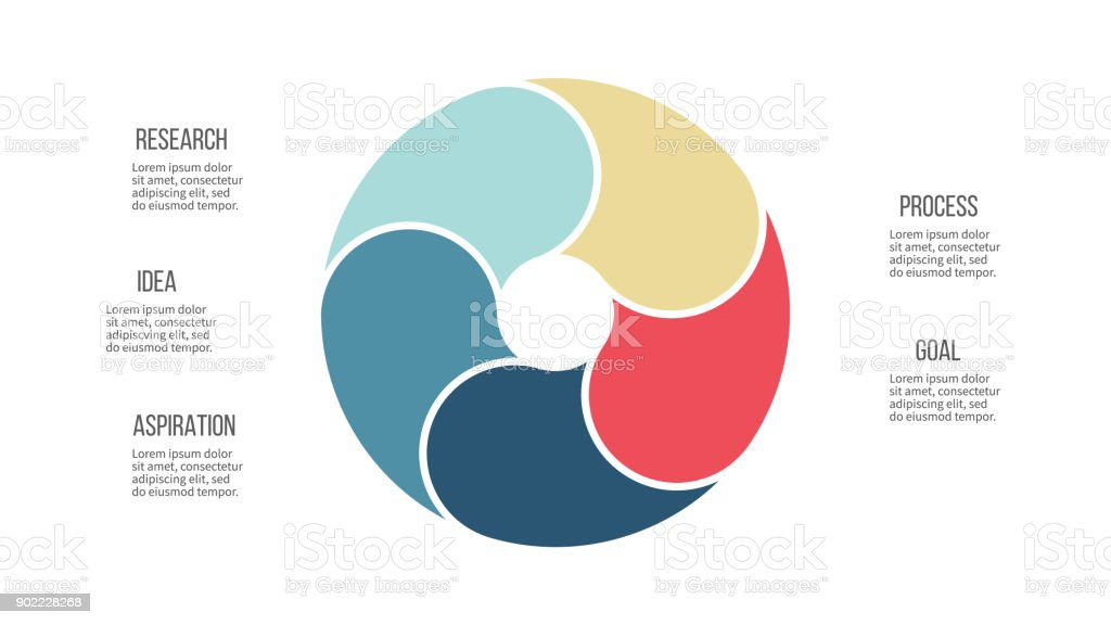 Business Infographics Pie Chart With 5 Sections Vector Template