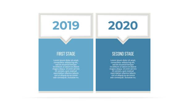 비즈니스 인포 그래픽입니다. 옵션 2 단계 프로세스입니다. 벡터 템플릿입니다. - 쌍 stock illustrations