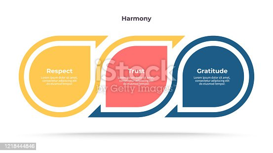 Business infographics. Process with 3 steps, options. Vector template.