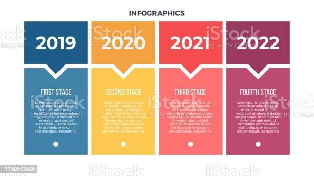 Vetores de Infografia De Negócios Processo Com 4 Etapas Opções Modelo De Vetor e mais imagens de Comercializando