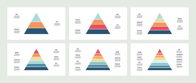 triangle infographics stock illustrations
