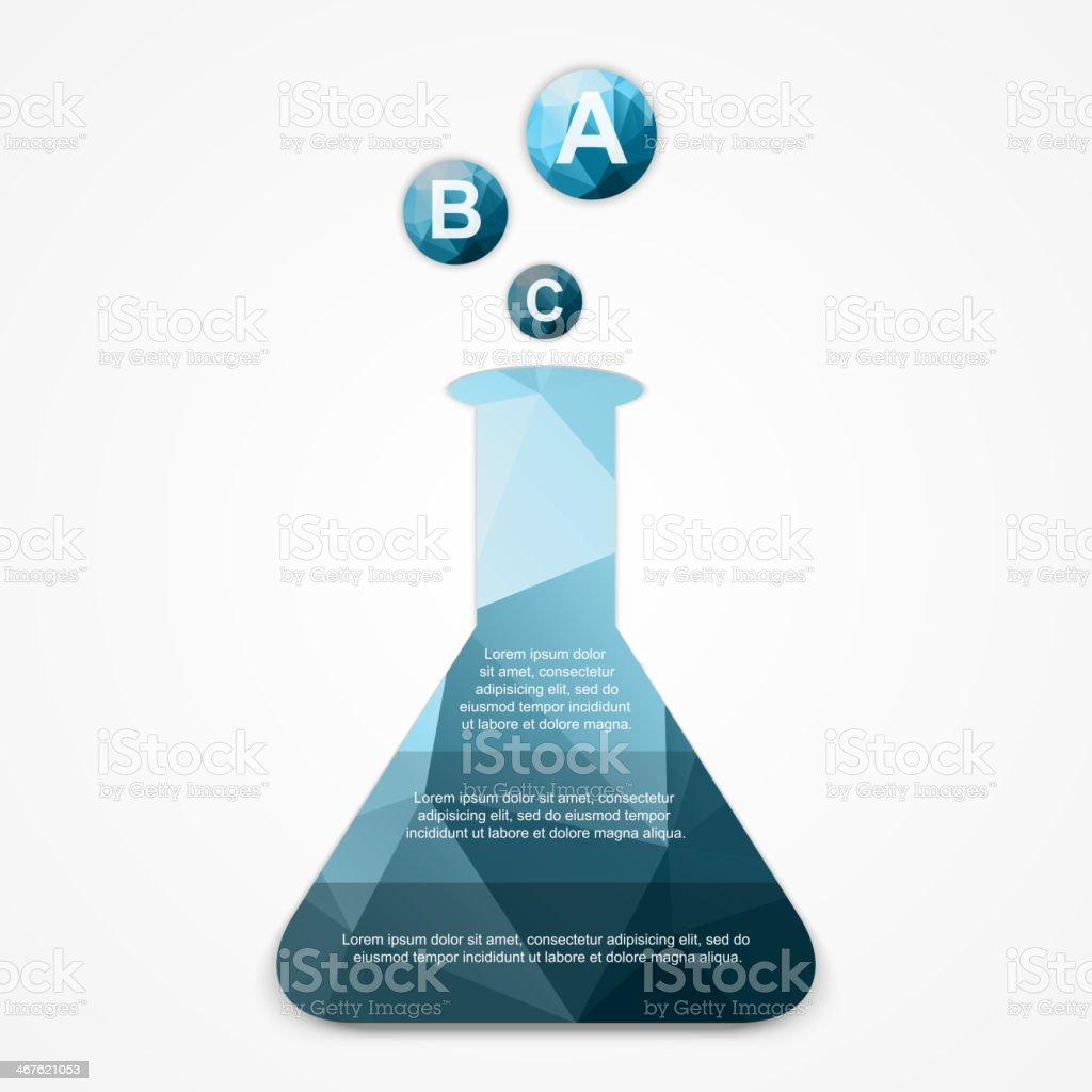 Business Infographics scientific style. Vector illustration. vector art illustration