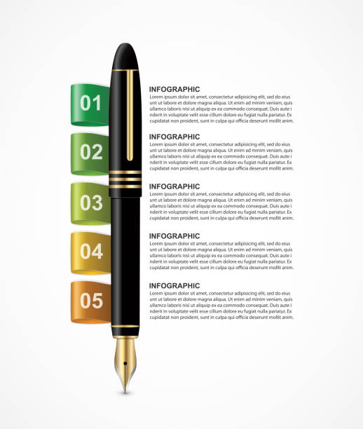 Business infographics template. Infographics for business presentations or information banner. vector art illustration