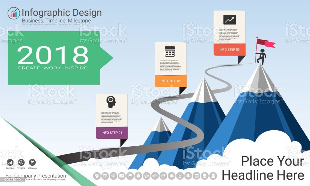 Business infographics template milestone timeline or road map with business infographics template milestone timeline or road map with process flowchart 3 options strategic ccuart Images
