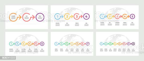 Business infographics timeline with 3 5 7 8 steps options vector vector id908241222?b=1&k=6&m=908241222&s=612x612&h=ggsucqhr cxnbwbs8om6fdvdpmkos5srlyn3e565oam=