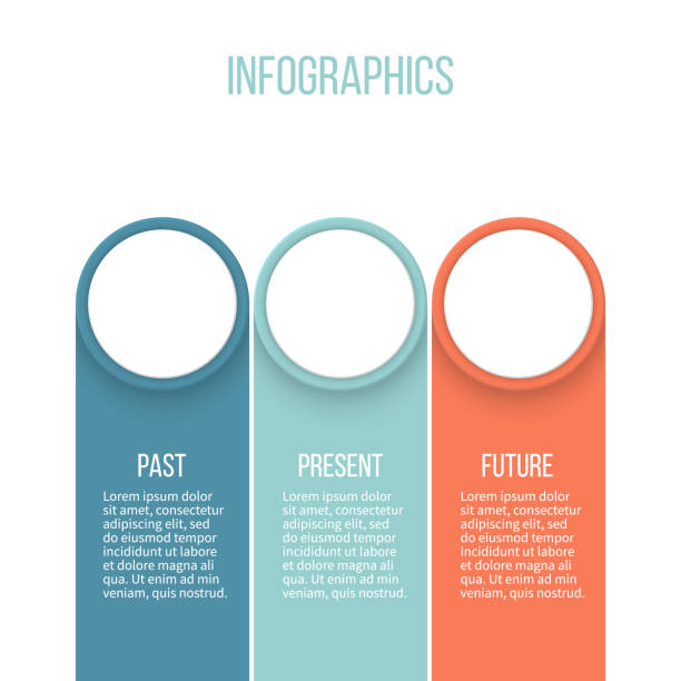 business infographics. timeline with 3 steps, options, labels. vector template. - three shapes stock illustrations, clip art, cartoons, & icons
