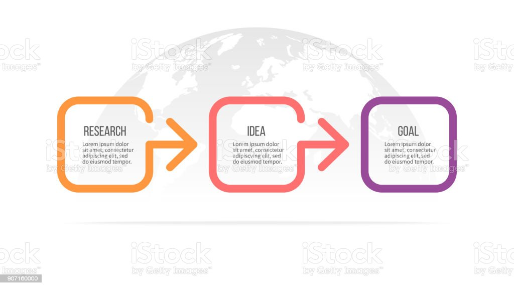 Business infographics. Timeline with 3 steps, options. Vector template. royalty-free business infographics timeline with 3 steps options vector template stock illustration - download image now