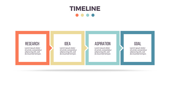 square infographics stock illustrations