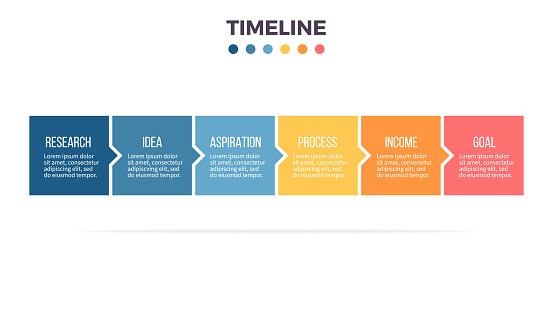 timeline infographic stock illustrations