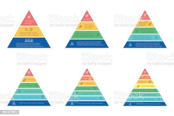 Business infographics triangle pyramid with 3 5 7 8 steps levels vector id851678812?b=1&k=6&m=851678812&s=612x612&h=yj94fbwrjijv9ynjibciqcdlgoo d bewrnlgvadmio=