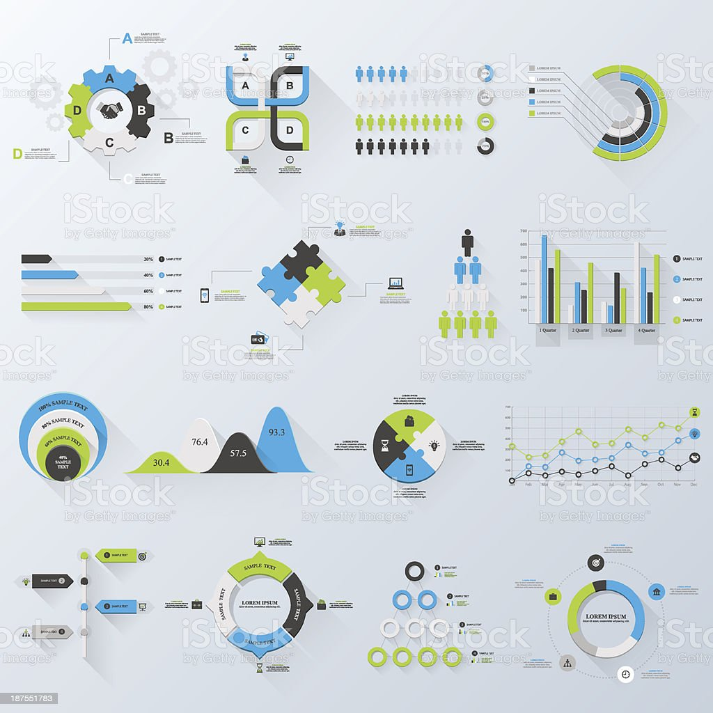 Business infographics vector art illustration