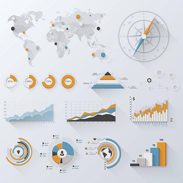 Business-Infografiken – Vektorgrafik