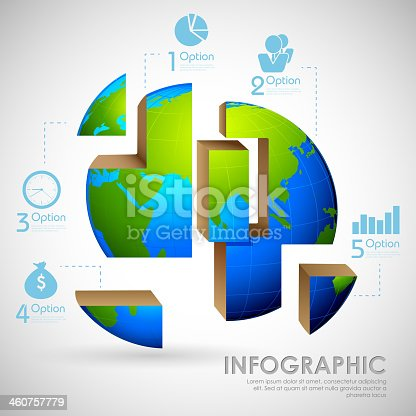 illustration of business infographics chart for presentation and promotion