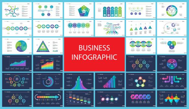 Diseño de inforgraphic de negocio para el concepto de gestión del proyecto - ilustración de arte vectorial