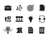 Business Intelligence Icon Set