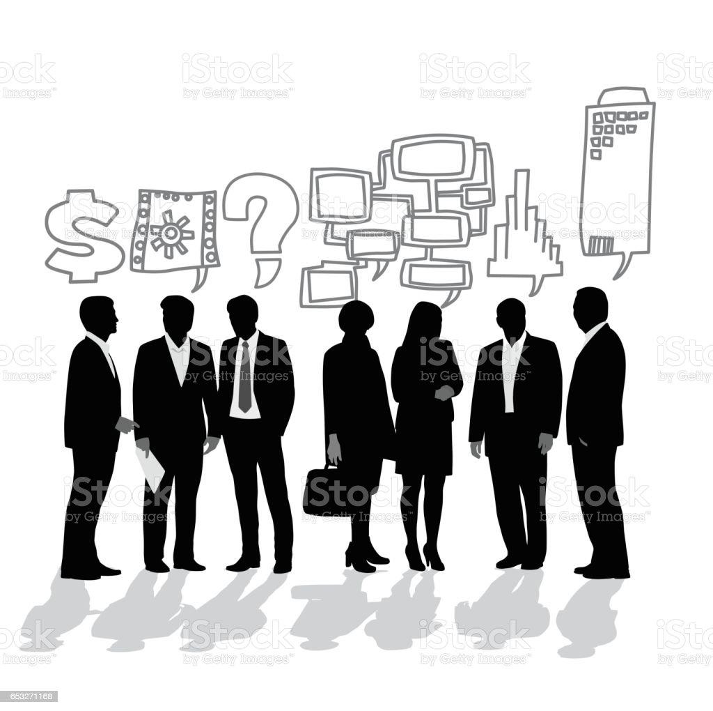 Business Interests vector art illustration