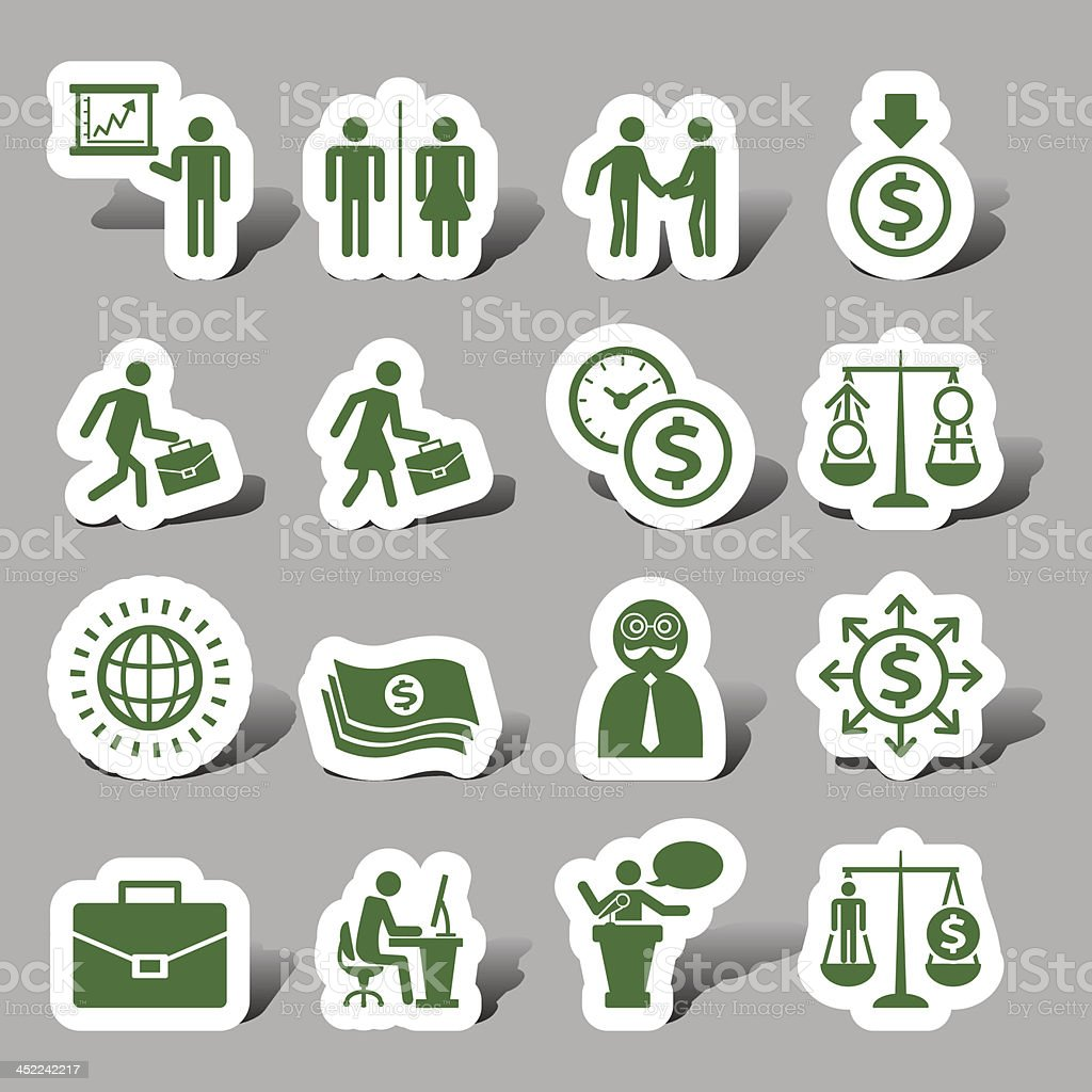 Business interface icon royalty-free stock vector art
