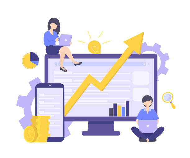 business investment vector art illustration