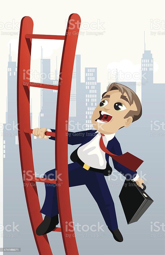 Business Ladder vector art illustration