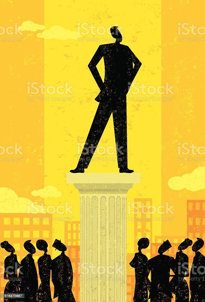 Business Leader vector art illustration