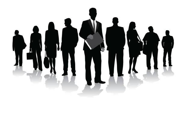 ビジネスリーダー - オフィスワーク点のイラスト素材/クリップアート素材/マンガ素材/アイコン素材