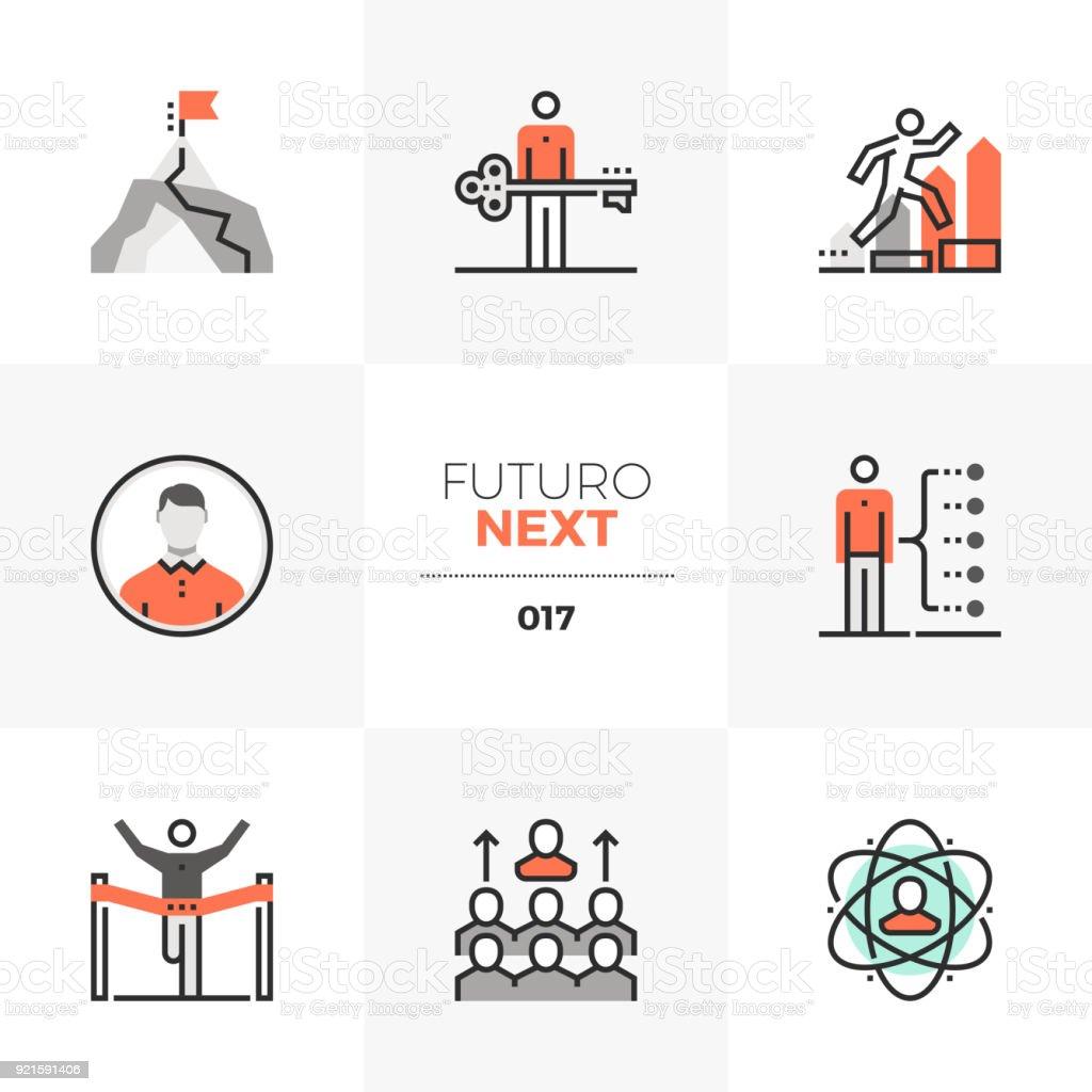 Business Leadership Futuro nächsten Icons – Vektorgrafik