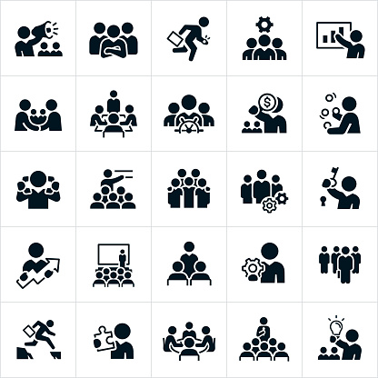 Business Leadership Icons