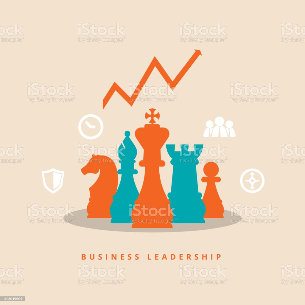 Business Leadership vector art illustration