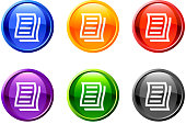 letter/ notes icon/button set in 6 color