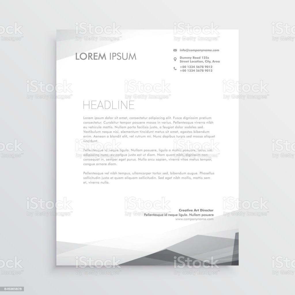 Business Briefbogen Designvorlage In Grauen Schatten Stock Vektor