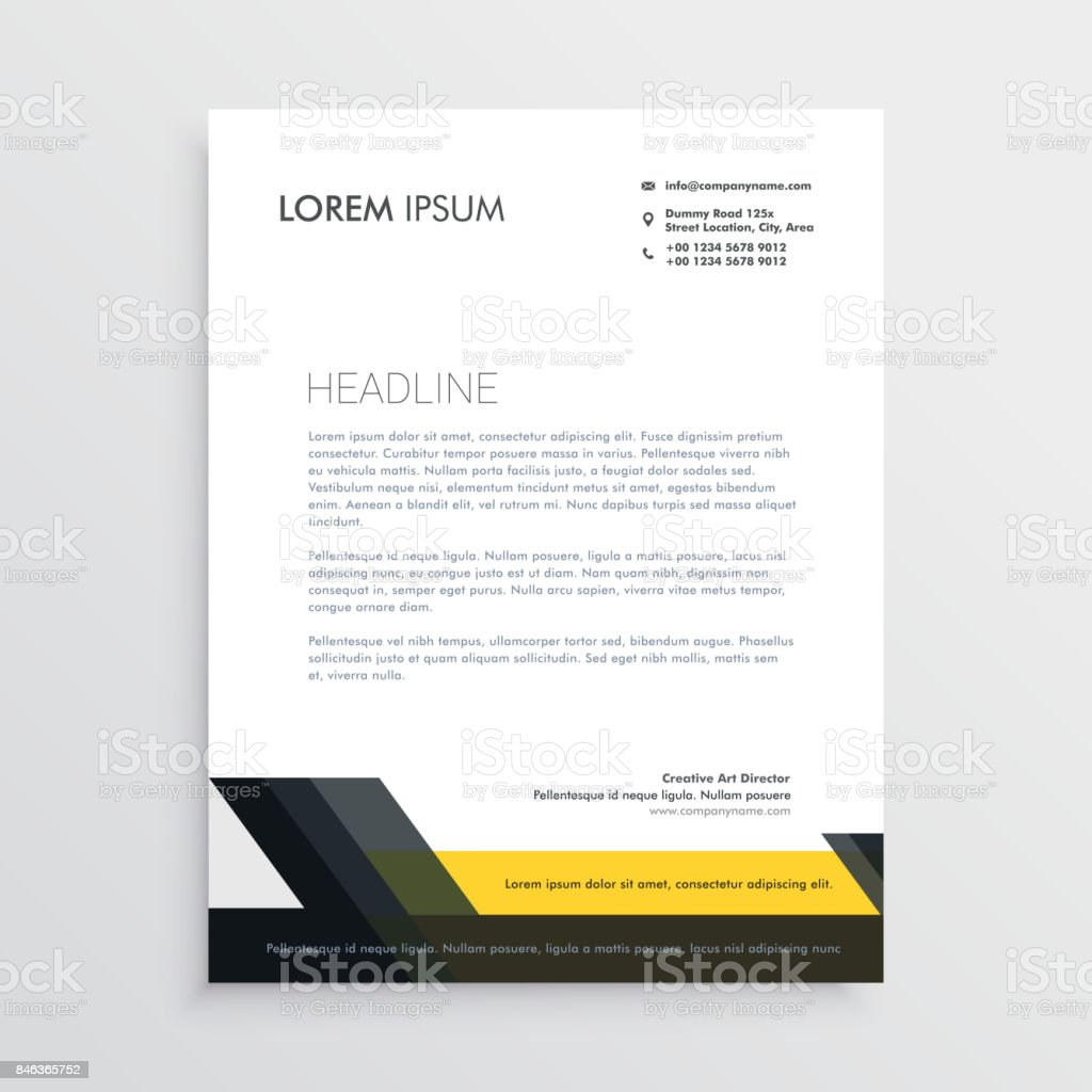 Business Letterhead Design Template Stock Vector Art More Images