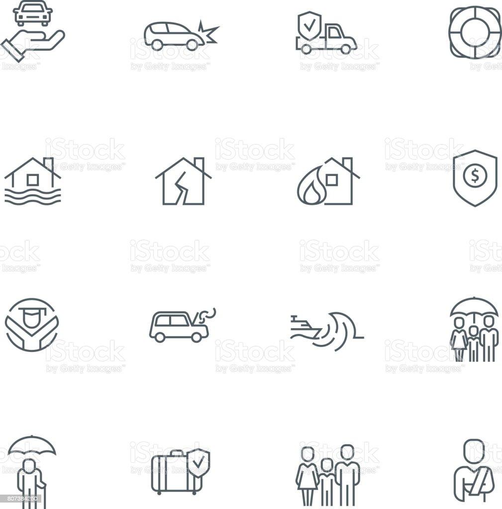 Business Line Icon Set vector art illustration