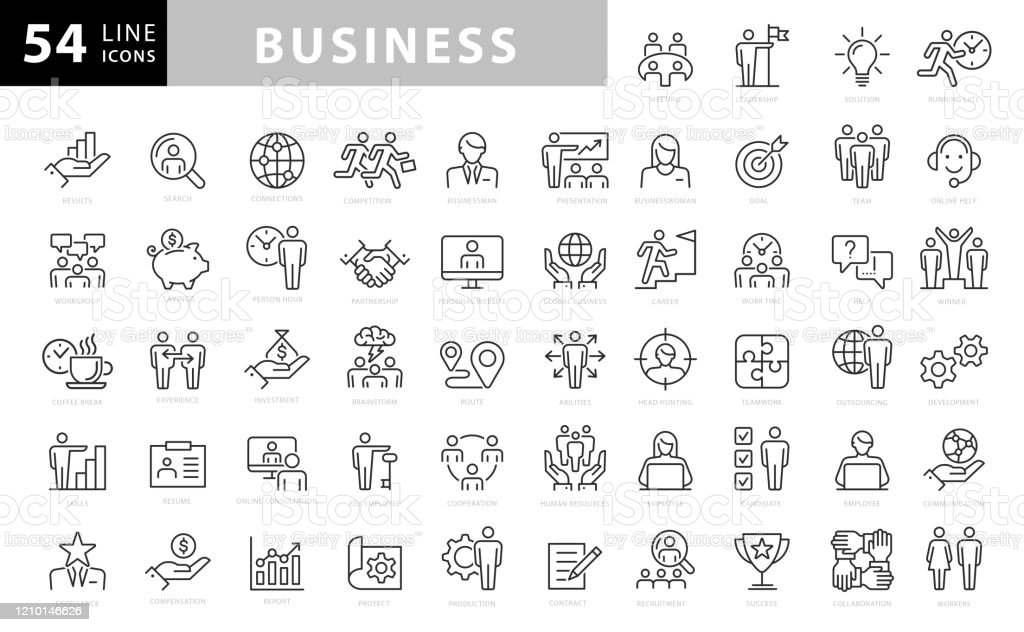 Business Line Icons. Editable Stroke. Pixel Perfect. For Mobile and Web. Contains such icons as Handshake, Target Goal, Agreement, Inspiration, Startup Business Line Icons. Editable Stroke. Pixel Perfect. For Mobile and Web. Contains such icons as Handshake, Target Goal, Agreement, Inspiration, Startup Achievement stock vector