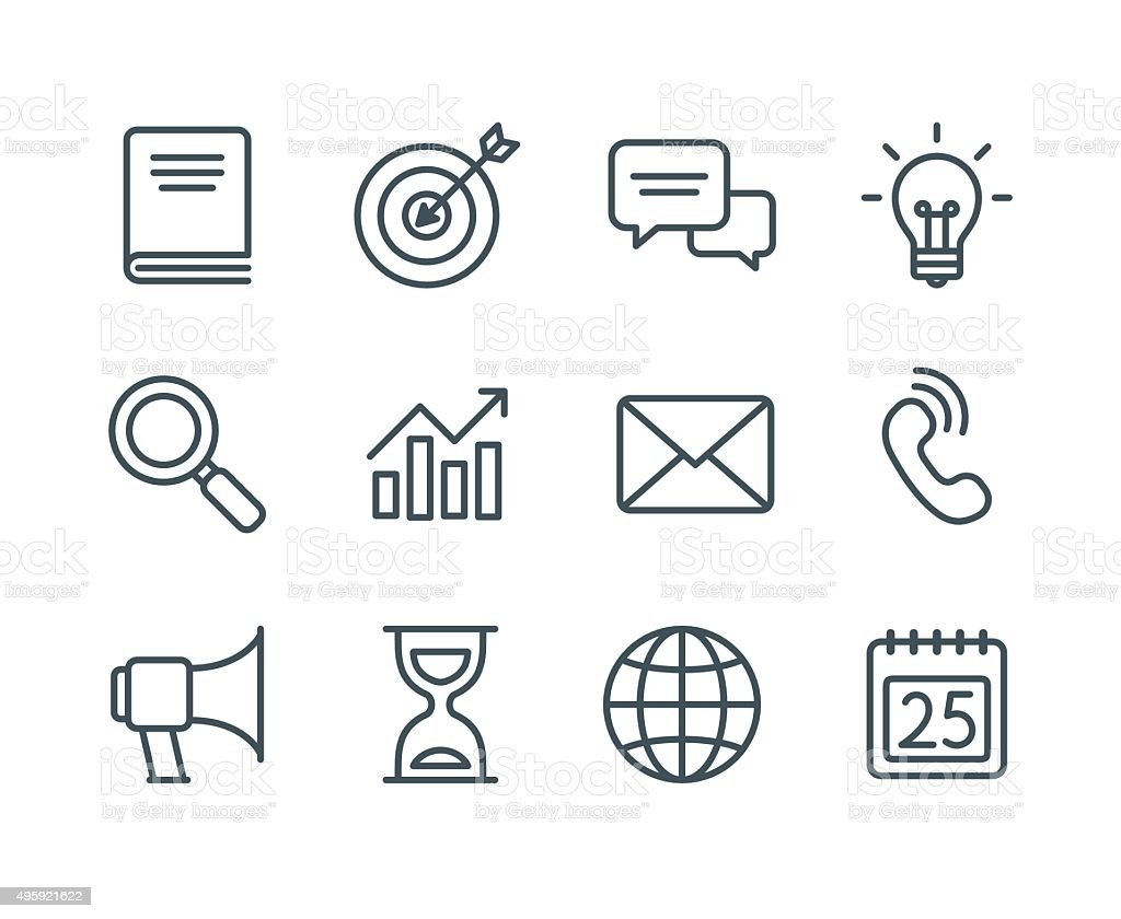 Business Line Icons Stock Vector Art & More Images of 2015 ...