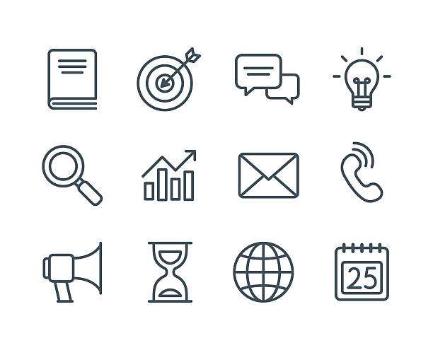 ビジネスラインのアイコン - 小売販売員点のイラスト素材/クリップアート素材/マンガ素材/アイコン素材