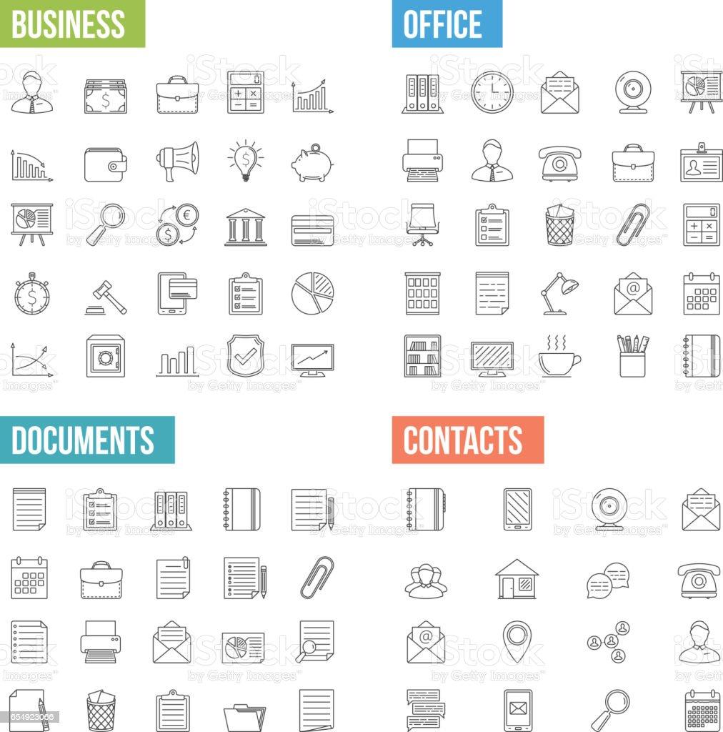 Geschäfts-Line-Ikonen – Vektorgrafik