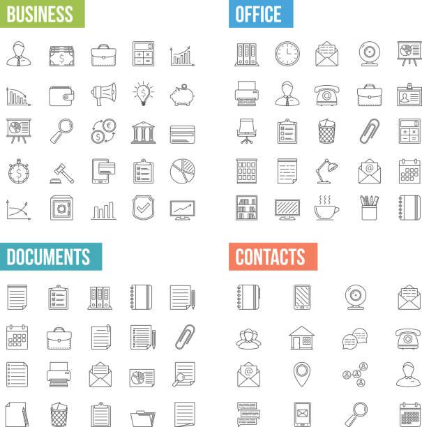 ビジネスラインのアイコン - ビジネスアイコン点のイラスト素材/クリップアート素材/マンガ素材/アイコン素材